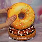 """3D Подушка декоративная Пончик """"Медовый"""". Декоративная 3D подушка-пончик. Подушка игрушка антистресс Пончик, фото 2"""