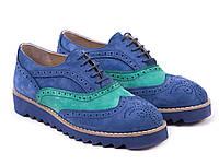 Броги Etor 4581-0126-4439-4450  синие, фото 1