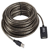 ϞКабель Lesko USB 10м активный удлинитель для компьютерной и цифровой техники
