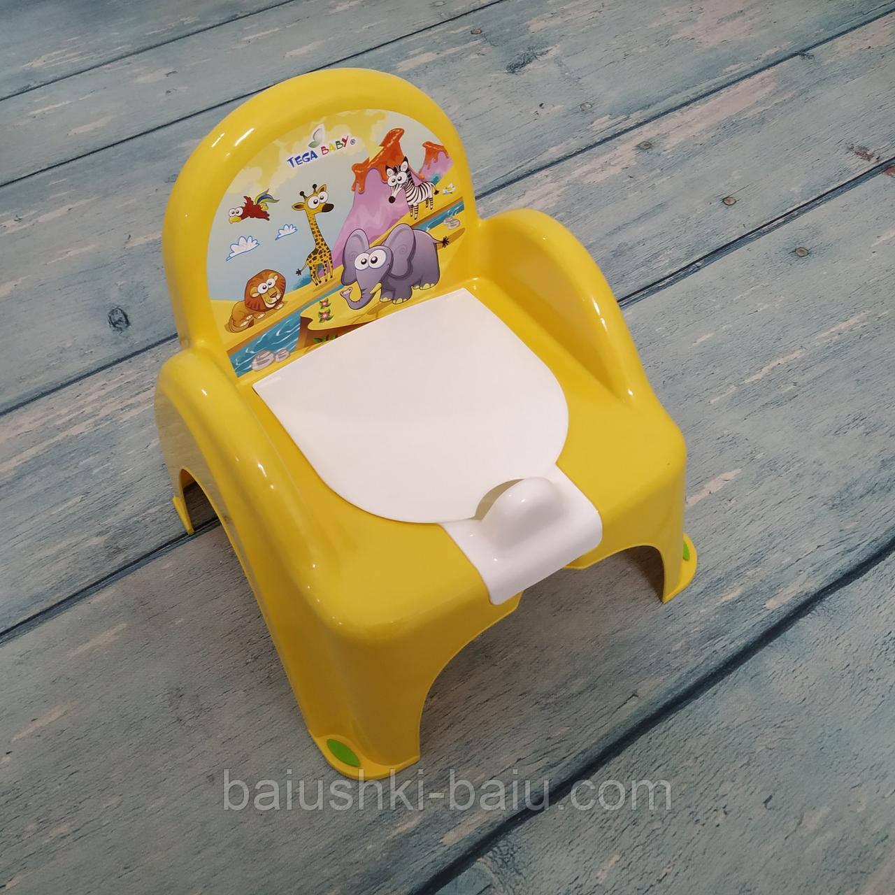 Детский горшок трон стульчик Сафари, Tega