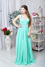Легкое вечернее платье с украшением на плече, фото 3
