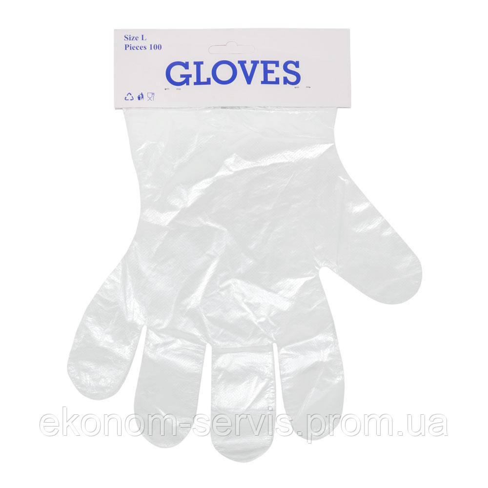 Перчатки полиэтиленовые Gloves (упаковка 100 шт.)