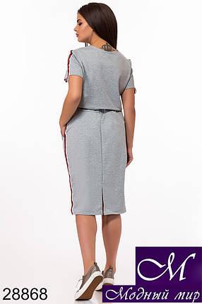 Спортивный юбочный костюм большого размера (р. 48-50, 50-52, 52-54) арт. 28868, фото 2