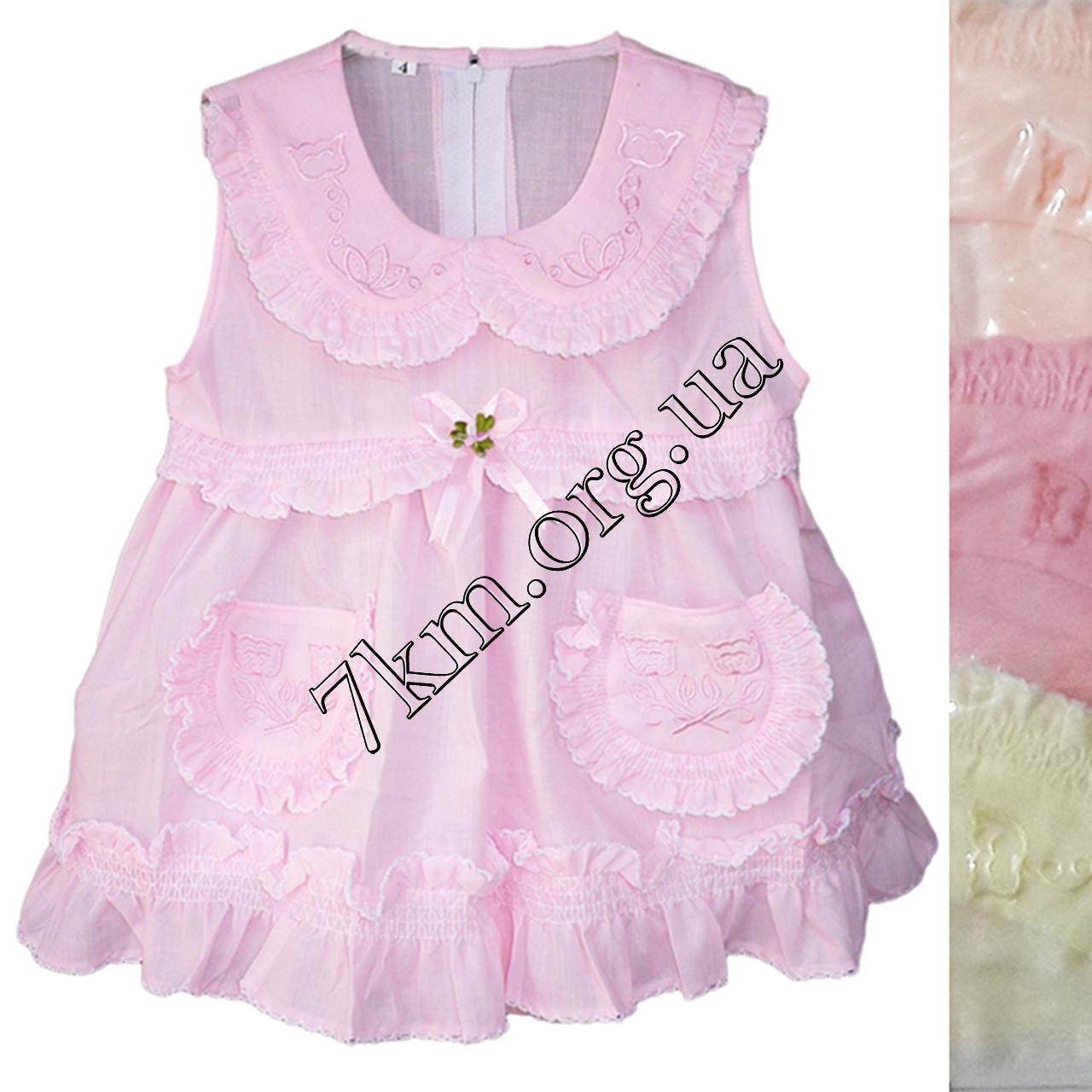 Платье с трусиками батист розовое 6-24 месяца Оптом 020517