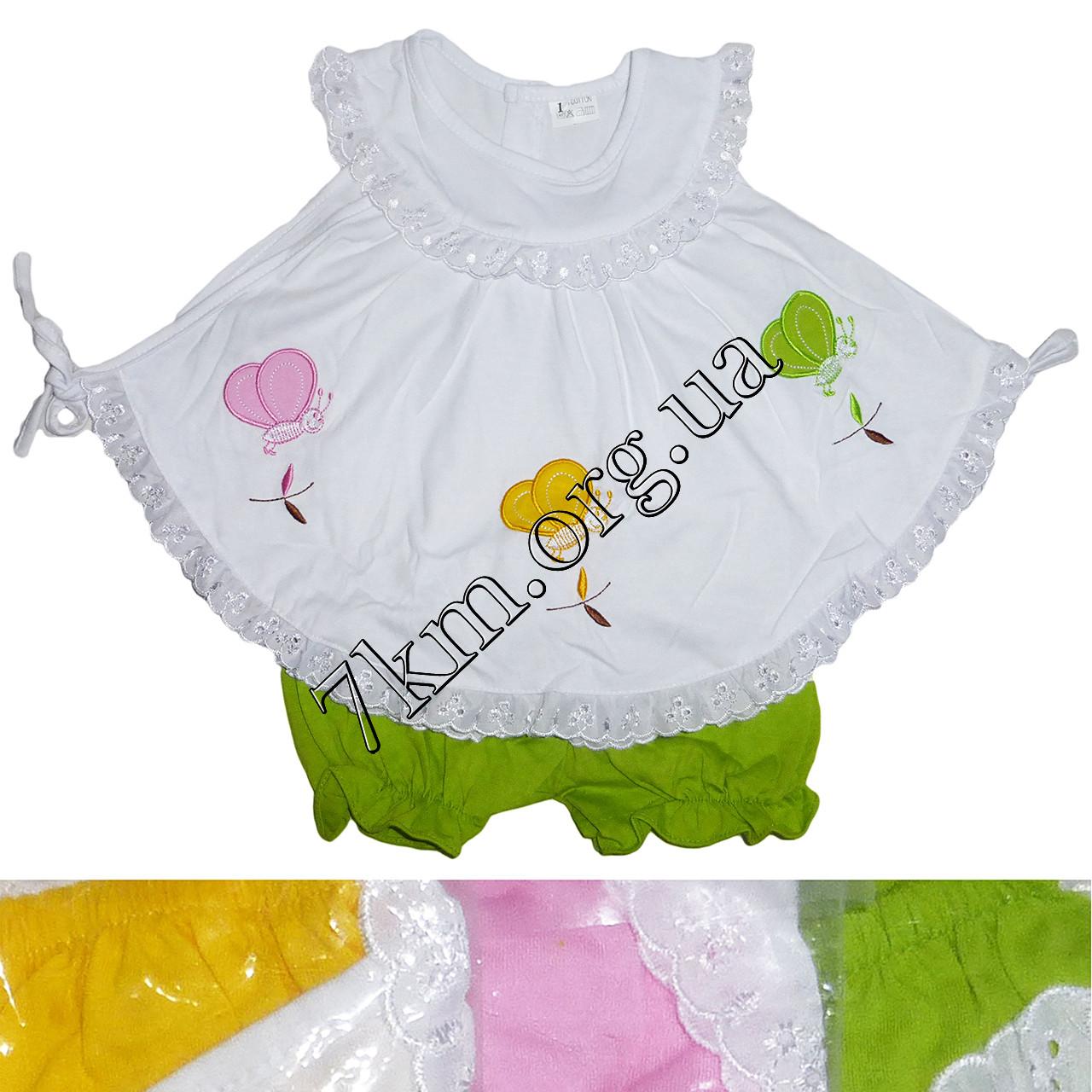 Платье с трусиками трикотаж 6-24 месяца Оптом 020518