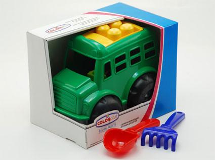 Машинка с набором для песка Автобус Бусик №4 в коробке