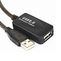 Активный удлинитель Lesko USB 20м высокоскоростной соединение кабелей, фото 4