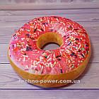 "3D Подушка декоративная Пончик ""Розовый"". Подушка-антистресс (6 видов). Подушка-игрушка Пончик Розовый, фото 2"