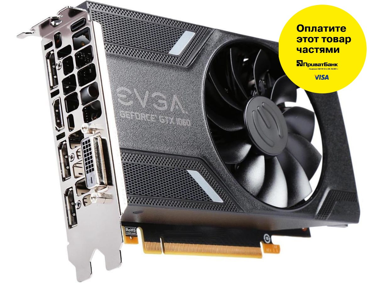 "Видеокарта EVGA GeForce GTX1060 3GB SC GAMING GDDR5 192bit (03G-P4-6162-KR) ""Over-Stock"" Б/У"