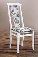 Деревянный стул Чумак 2, цвет белый, ткань Роза 2А