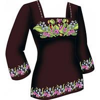 F2816 Нежная весна. Диана Плюс. Схема + выкройка для вышивания женской сорочки