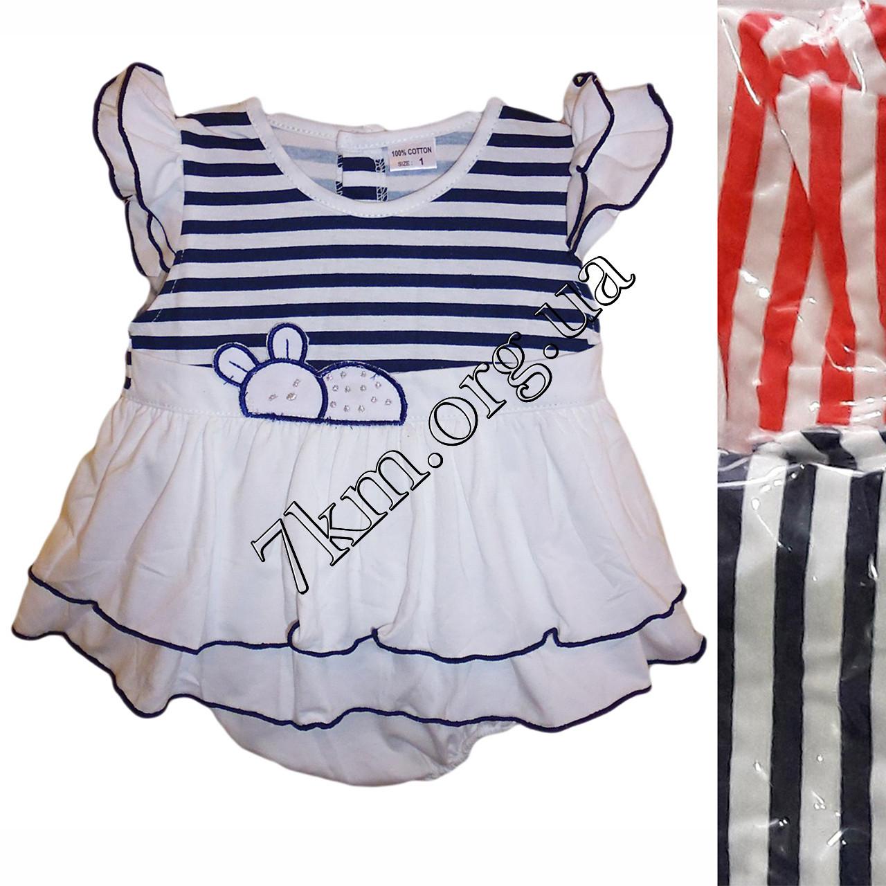 Платье с трусиками трикотаж 6-24 месяца Оптом 020529