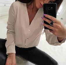 Классическая женская блуза на пуговицах (в расцветках), фото 2