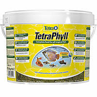 Корм для аквариумных рыб Tetra PHYLL 10 л / 2,05 кг растительные хлопья для травоядных рыб