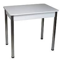 Стол Тавол Классик ноги металл хром 93 см х 60 см х 76 см Белый, фото 1