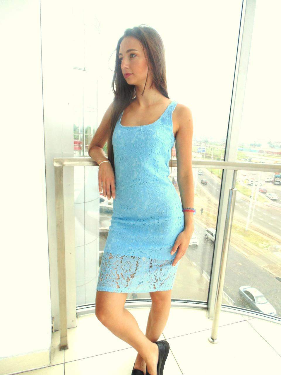 Платье женское Glo-Story голубое