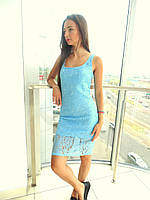 Платье женское Glo-Story голубое XL
