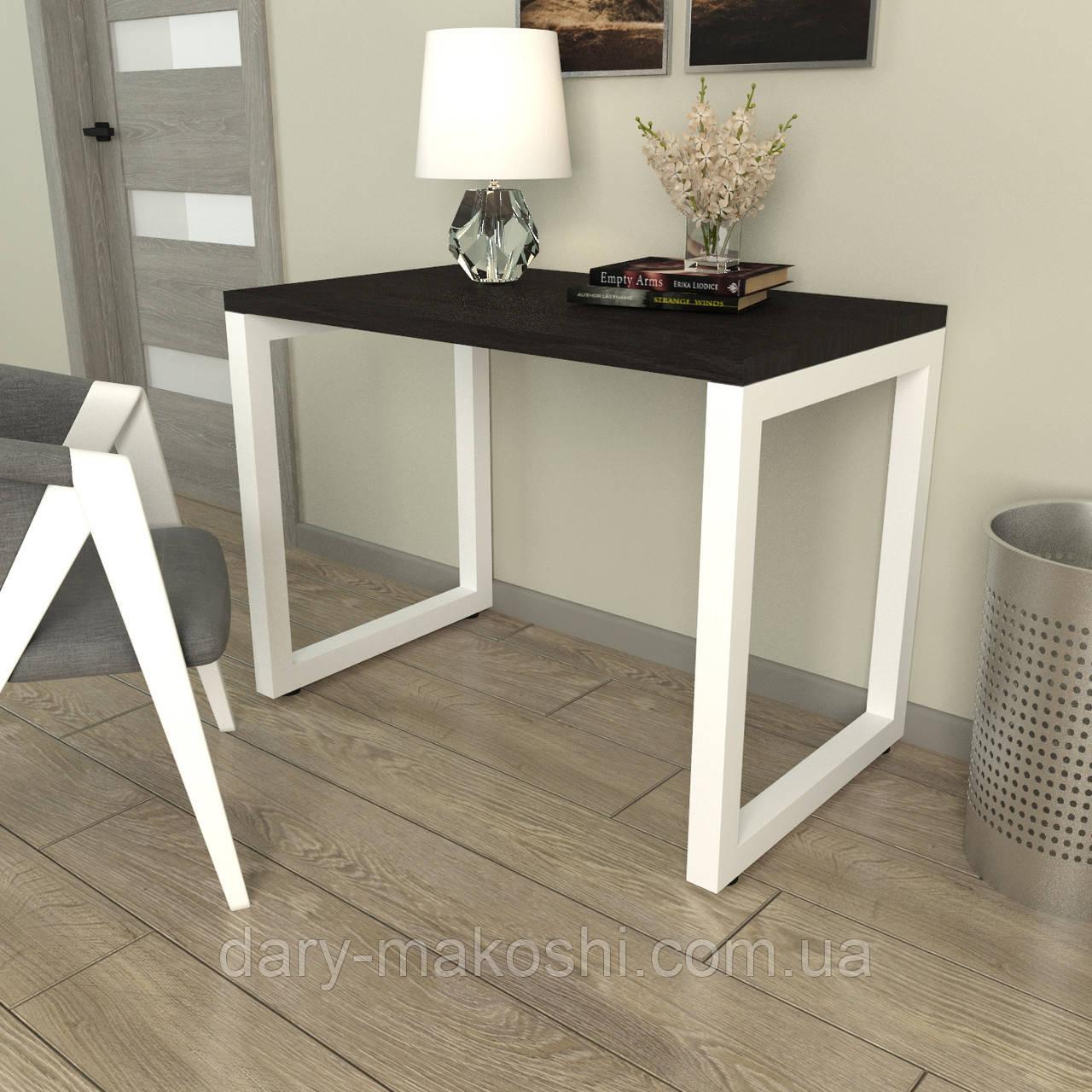 Стол Тавол КС 8.3 металл опоры белые 100смх60смх75см ДСП 32 мм Венге