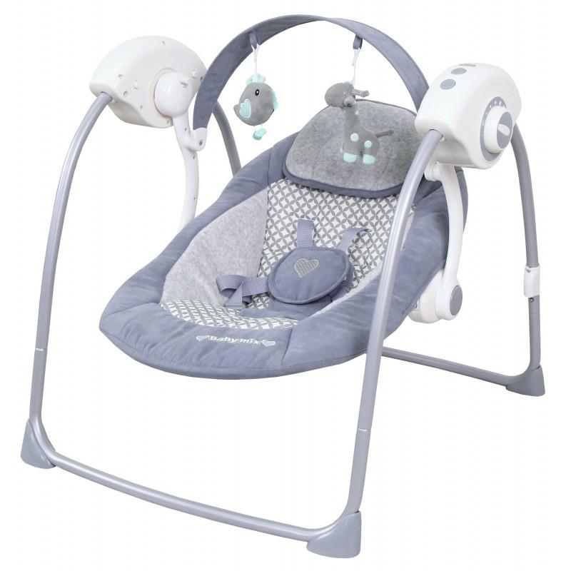 Кресло-качалка Baby Mix TY-019D GREY  светло серый