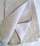 Лляне рушник рук та обличчя 50х70, льон сірий, фото 1