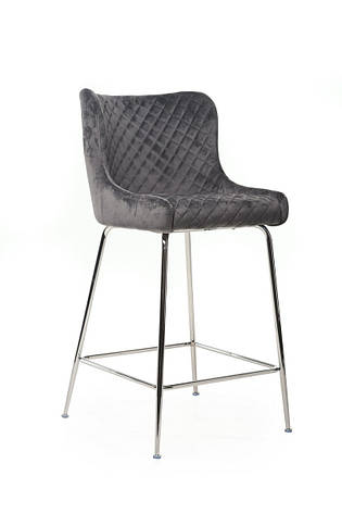 Барный стул B-120-1 (серый+хром), фото 2