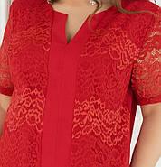 / Размер 56,58,60,62 / Женский брючный костюм-двойка / 353-Красный, фото 4