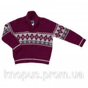 """Вязаный шерстяной свитер для мальчика """"Бордо"""", Girandola, размеры 86,92"""