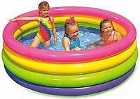 Детский надувной бассейн Интекс Радуга 168*46 см для детей