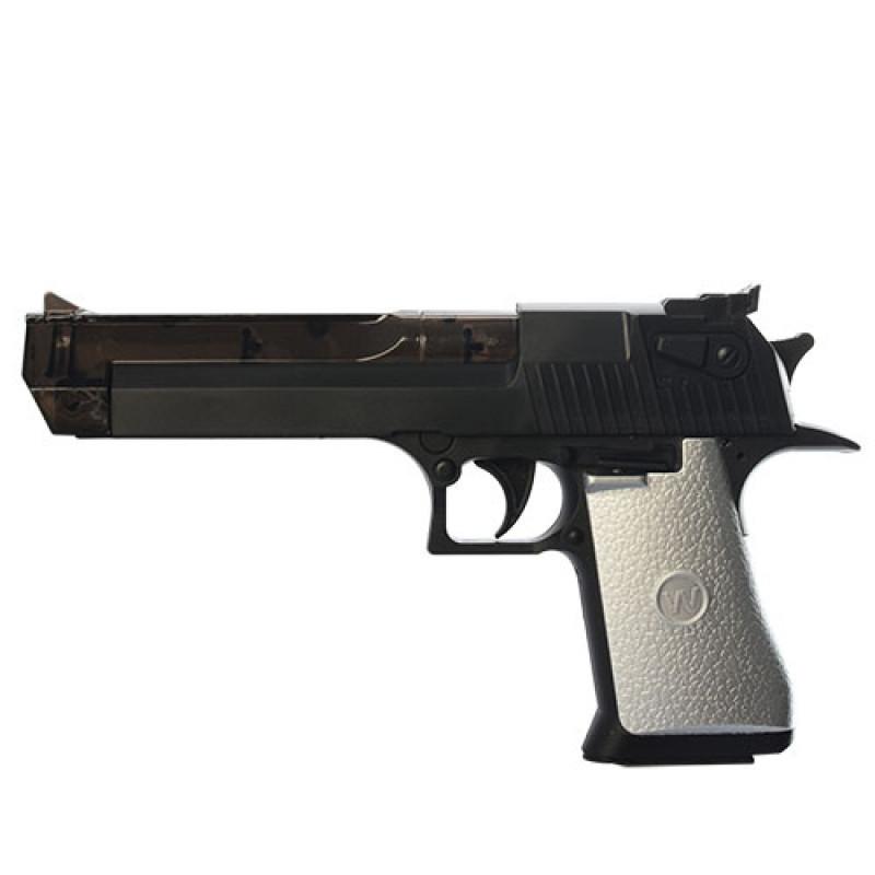 Пістолет 998-04 музика, світло, на батарейки, в кульку, 16,5-28-2,5 см