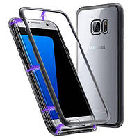 Металлический магнитный чехол Primo для Samsung Galaxy S7 Edge (SM-G935) - Black
