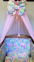 """Комплект постельного белья хлопок для девочки """" Розовые узоры"""" Бесплатная Доставка"""