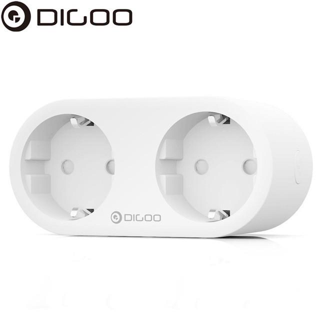 Умная двойная Wi-Fi розетка DIGOO NX-SP202 с энергомониторингом