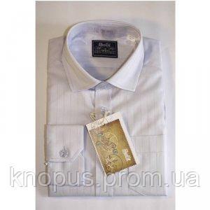 Рубашка для мальчика  серо-голубая, Bogi, размеры 110-140