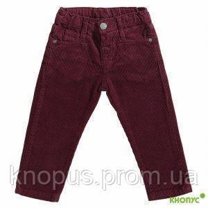 Вельветовые джинсы ля мальчика  темно-бордовые,Girandola, размер 86