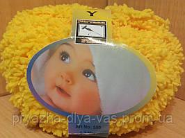Детская махровая пряжа Filati Baby (100% микрополиэстер 50г/75м) Жёлтый