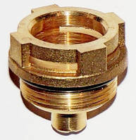Втулка (гайка латунная) клапана под привод (сервопривод, электропривод), артикул 600750, код сайта 0007