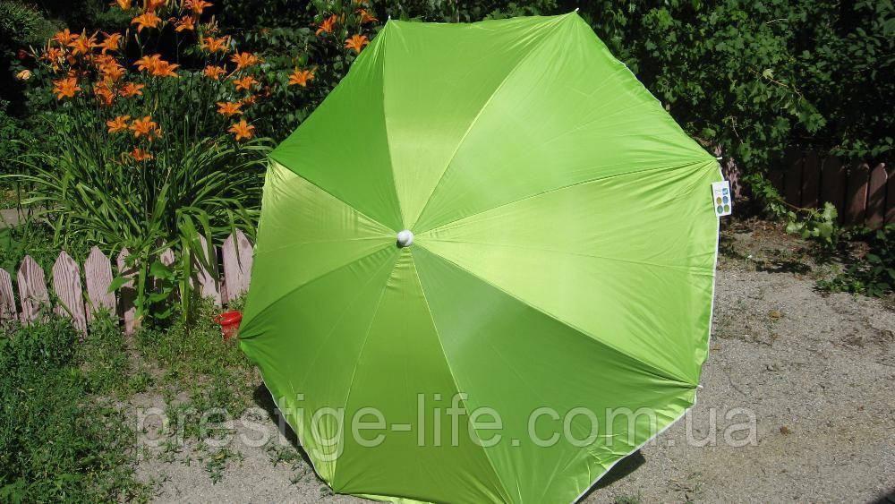 Зонт диаметром 1,7 м. Система ромашка. Серебренное покрытие. Зелёный
