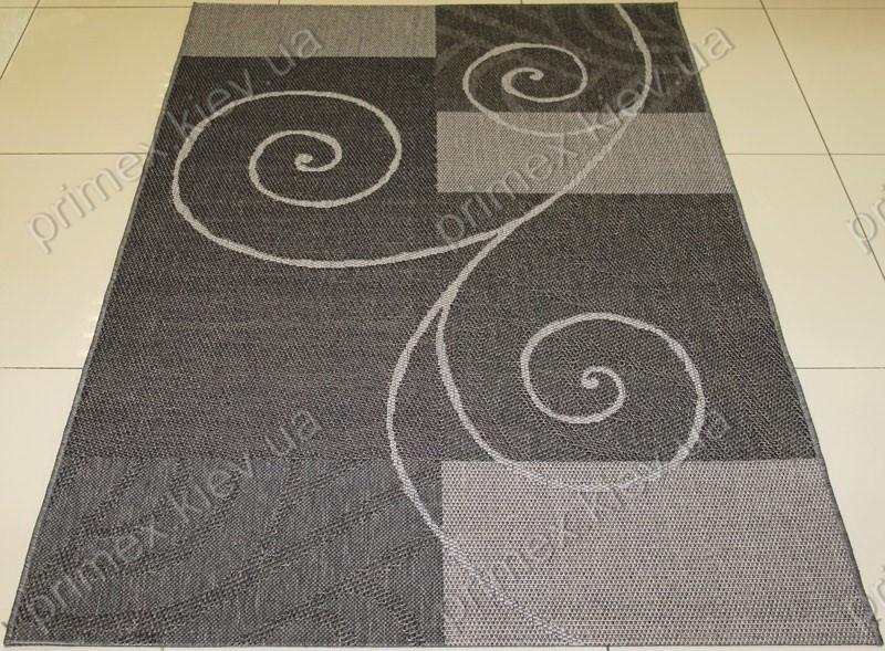 Безворсовый ковер-рогожка Balta Decora завиток серый