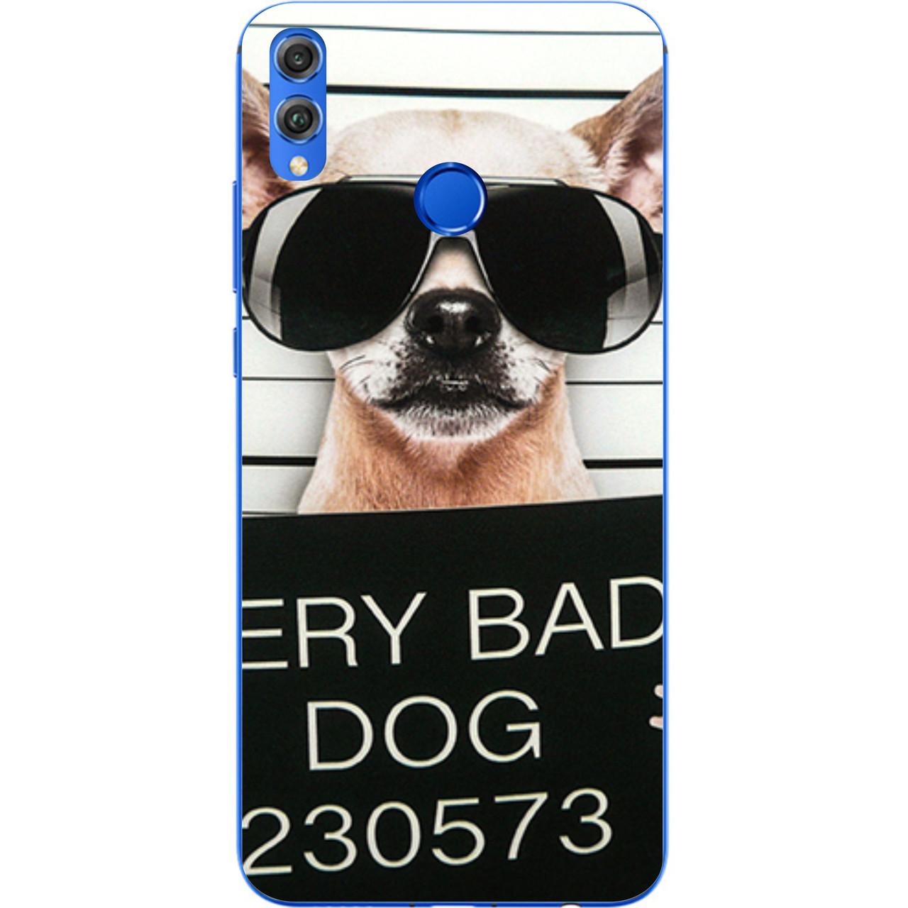 Чохол силіконовий для Huawei Y9 2019 з картинкою Bad Dog