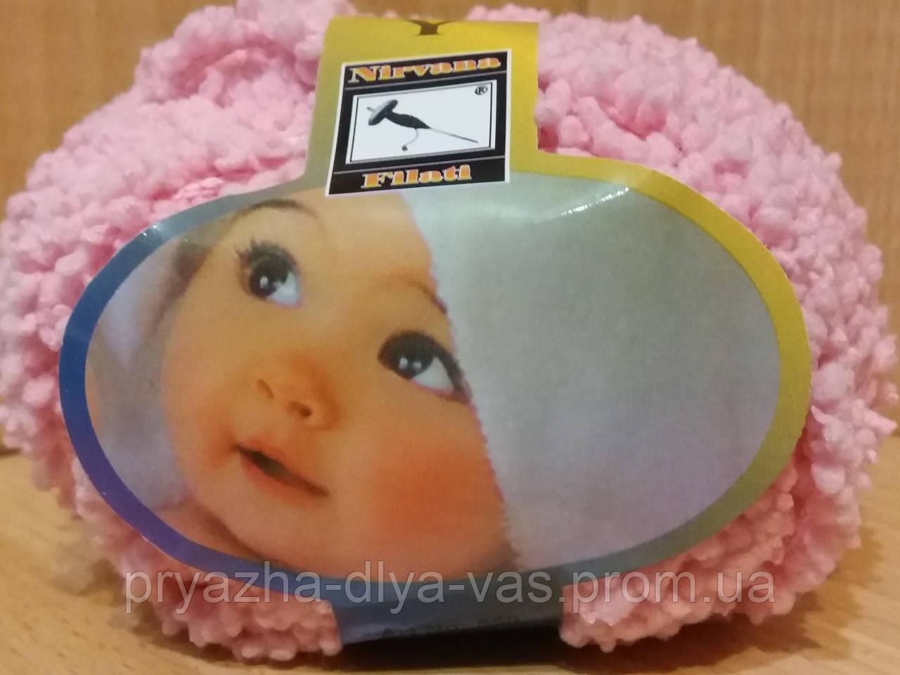 Детская махровая пряжа Filati Baby (100% микрополиэстер 50г/75м) Розовый