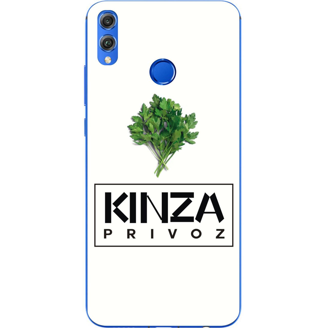 Антибрендовый силиконовый чехол для Huawei Y9 2019 с картинкой Kinza Privoz