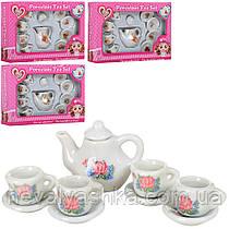 Посуда чайный сервиз графин с цветочками маленький посудка для барби лол, 628-13-4-5-6, 007895