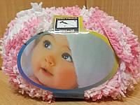 Детская махровая пряжа Filati Baby (100% микрополиэстер 50г/75м) Розово-белый меланж