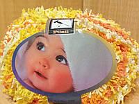 Детская махровая пряжа Filati Baby (100% микрополиэстер 50г/75м) Оранжево-жёлто-белый меланж