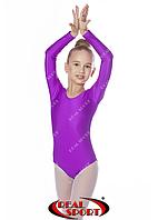 Купальник для художественной гимнастики, фиолетовый RS GM030109 (бифлекс, р-р 1-XL, рост 98-155см)