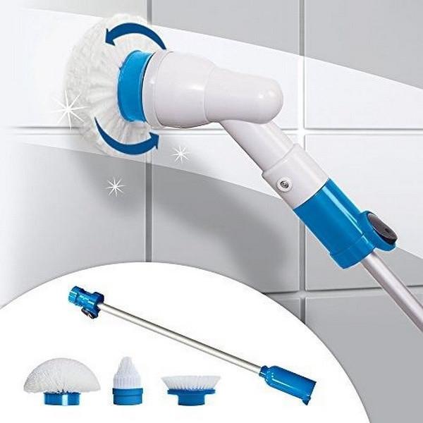 Электрическая щетка Spin Scrubber швабра для уборки с насадками (VJ2323-2561щеткаScrubber)