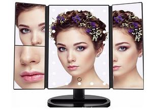 Зеркало для макияжа Led mirror квадратное с подсветкой со ставнями