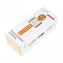Микрофон для караоке Wster WS-858 Bluetooth с USB, фото 3