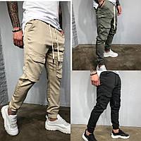 Джинсы мужские бежевые/ ТОП КАЧЕСТВО / джинсы мужские с манжетом с большими карманами / мужские карго