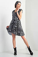 Леопардовое платье MALINA на запАх с воланами